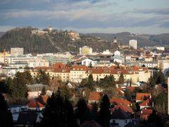 Graz, mitten im Winter, 17 Uhr