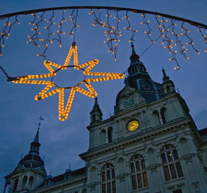 Grazer Rathaus zur Weihnachtszeit!