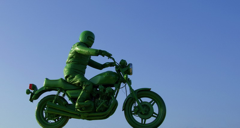 green Biker