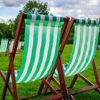Green chairs at Green Park