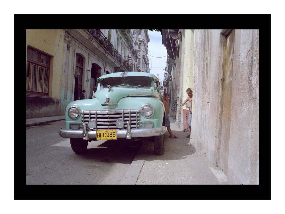 Green Dodge - Havana Cuba