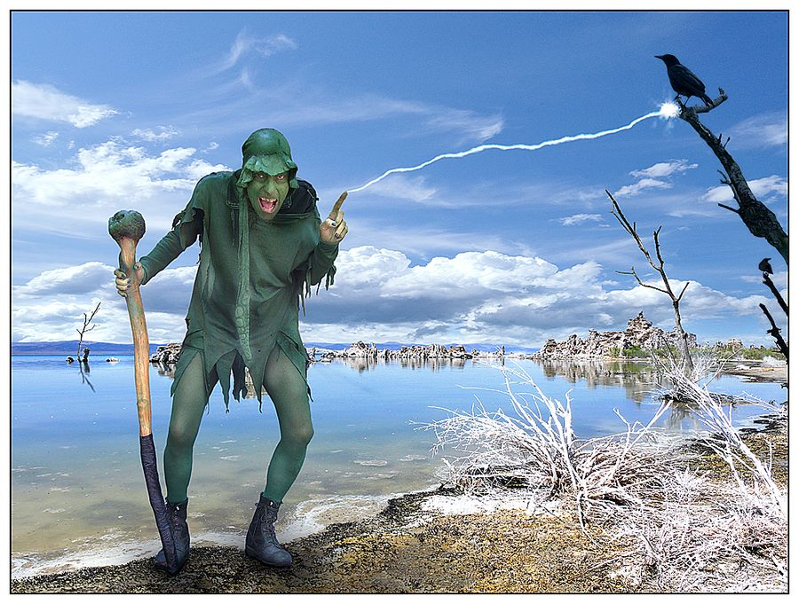 Green magic man