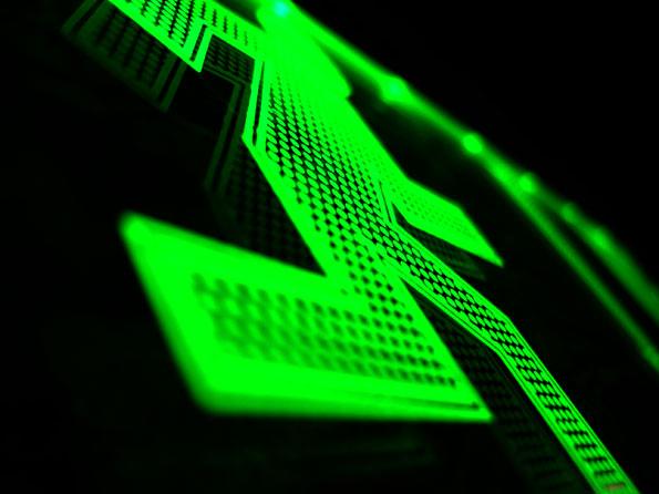 green man running