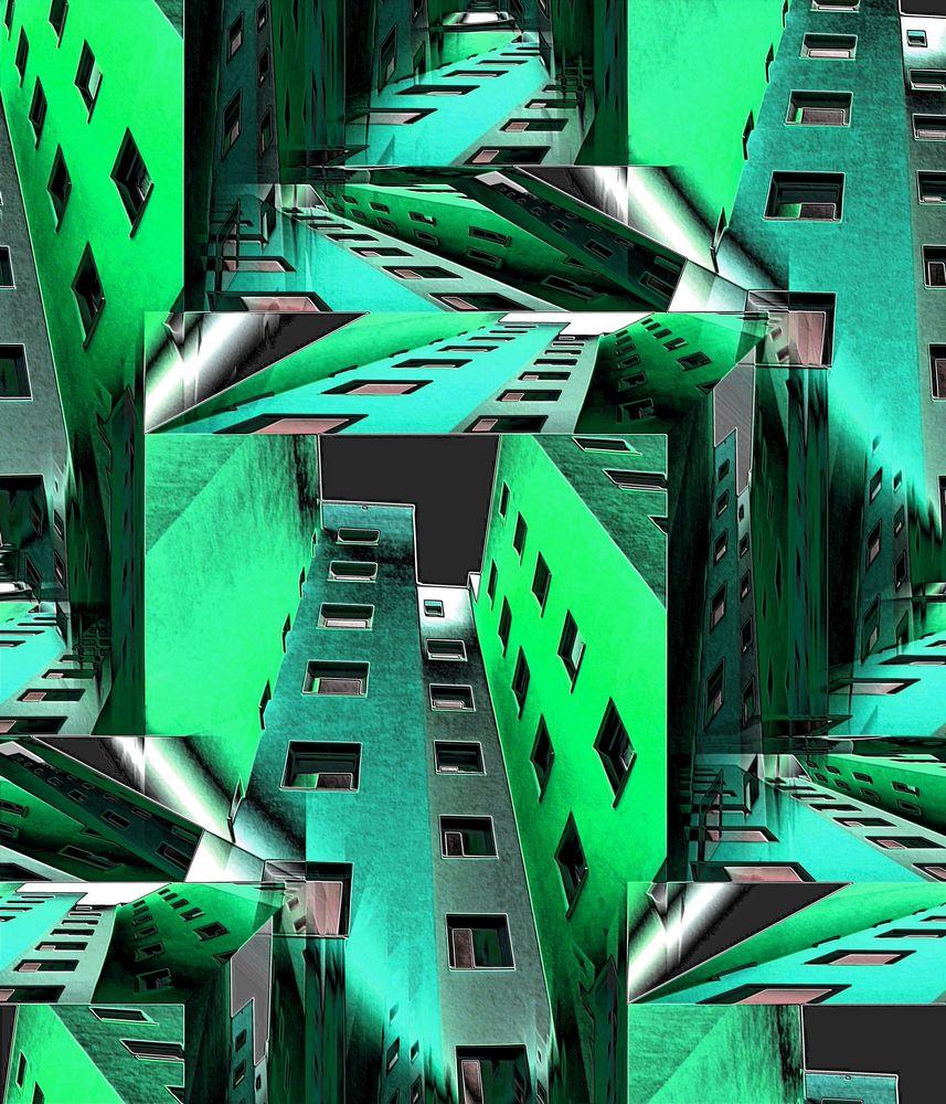 Green Metallic City