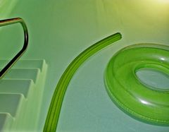 Green Pool Float