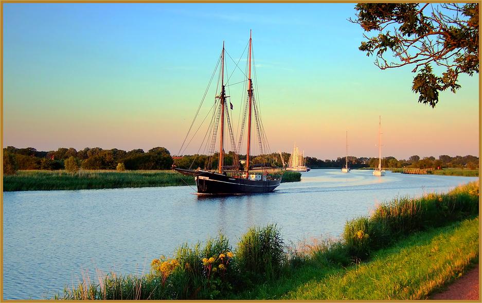 Greifswald, Segelschiff, Gaffelrigg