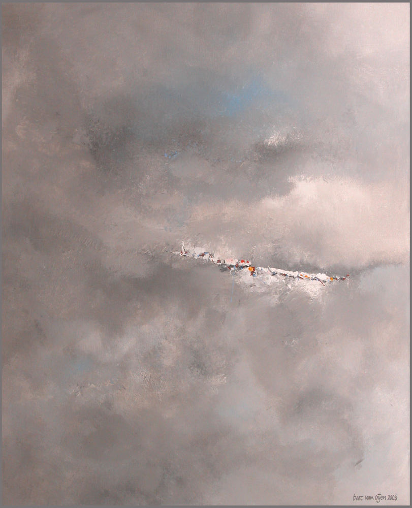 grey acrylic painting