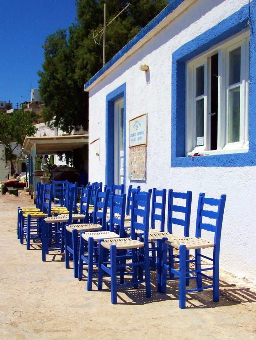 Griechisch blau
