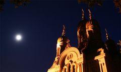 Griechische Kappelle bei Nacht