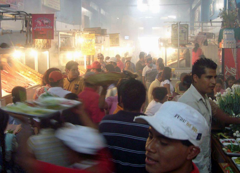 Grillstube in der Markthalle von OAXACA_I