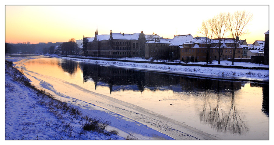 Grimma - ein Winterabend