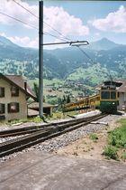 Grindelwald - Auffahrt zum Bahnhof