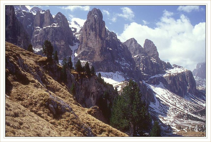Grödnerjoch in den Dolomiten...