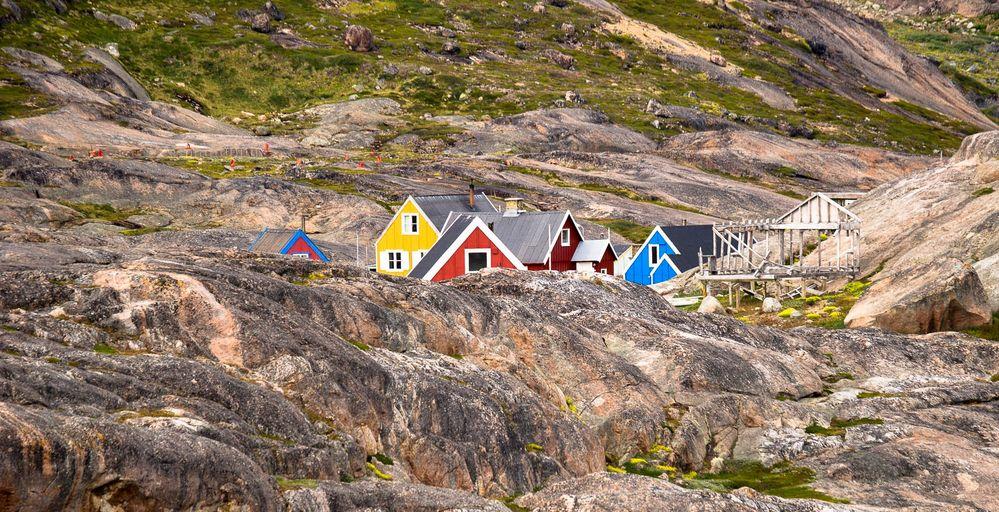Grönland_Dorf im Prins Christian Sund