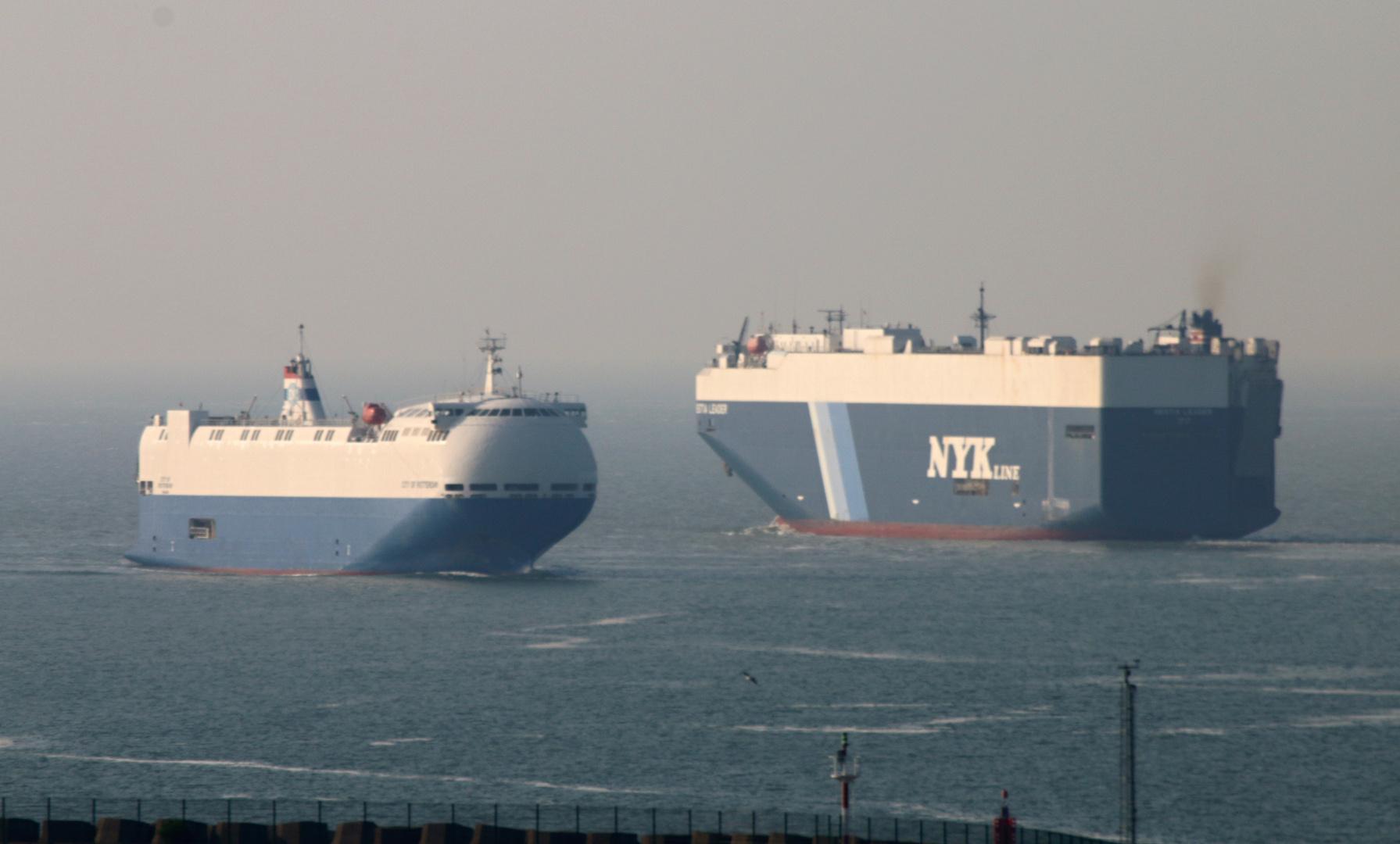 Größenvergleich von RoRo Schiffen