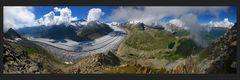 Grösster Alpengletscher (250° Pano)