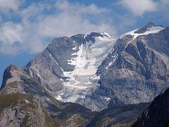 gros plan d un glacier vanoise...
