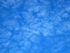 Große Schafherde am Himmel