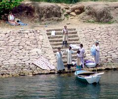 Grosse Wäsche am Nil