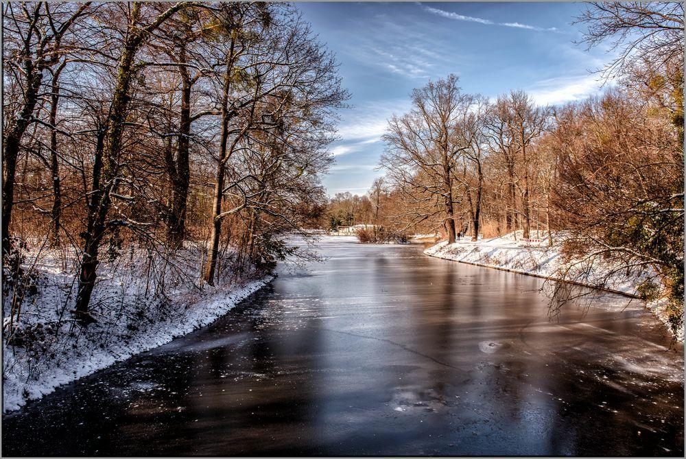 Großer Garten Dresden im Winter