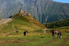 Großer Kaukasus in Georgien Stepantsminda