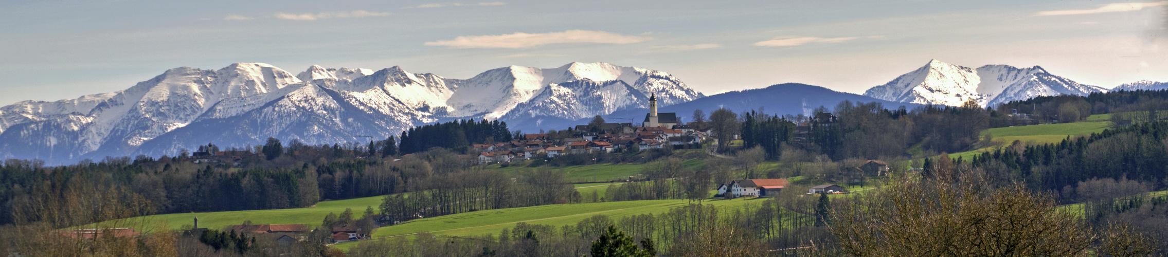 Großhöhenrain und die Berge