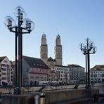 Grossmünster in Zürich, wie es Touristen sehen könnten ...