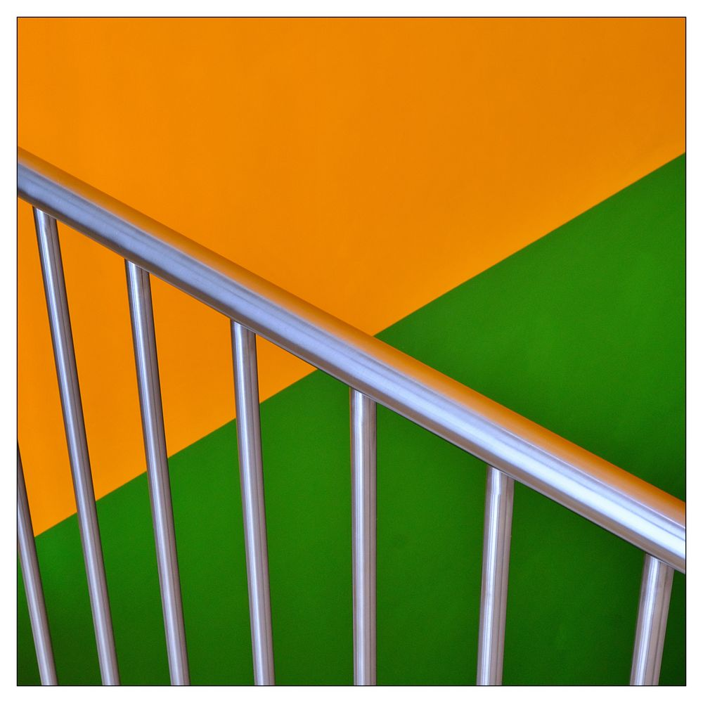 grün . orange . silber