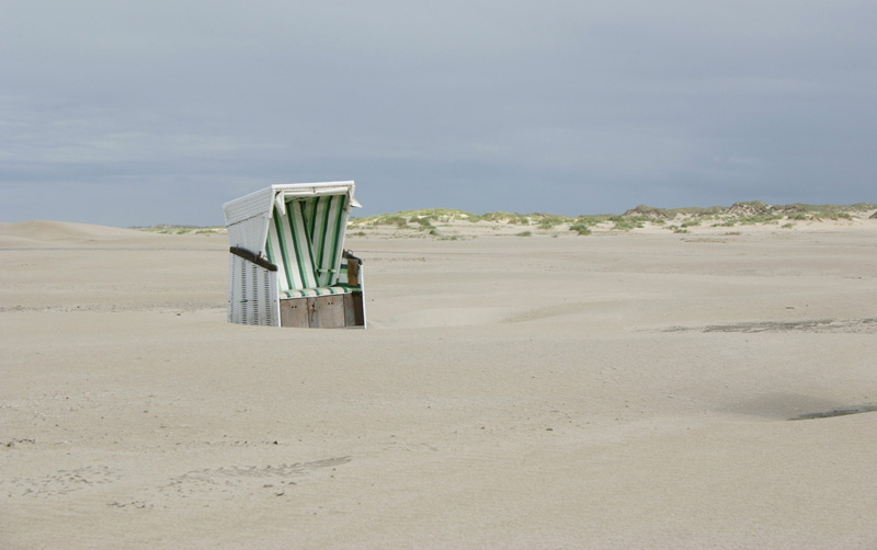 Grün Weiß am Strand