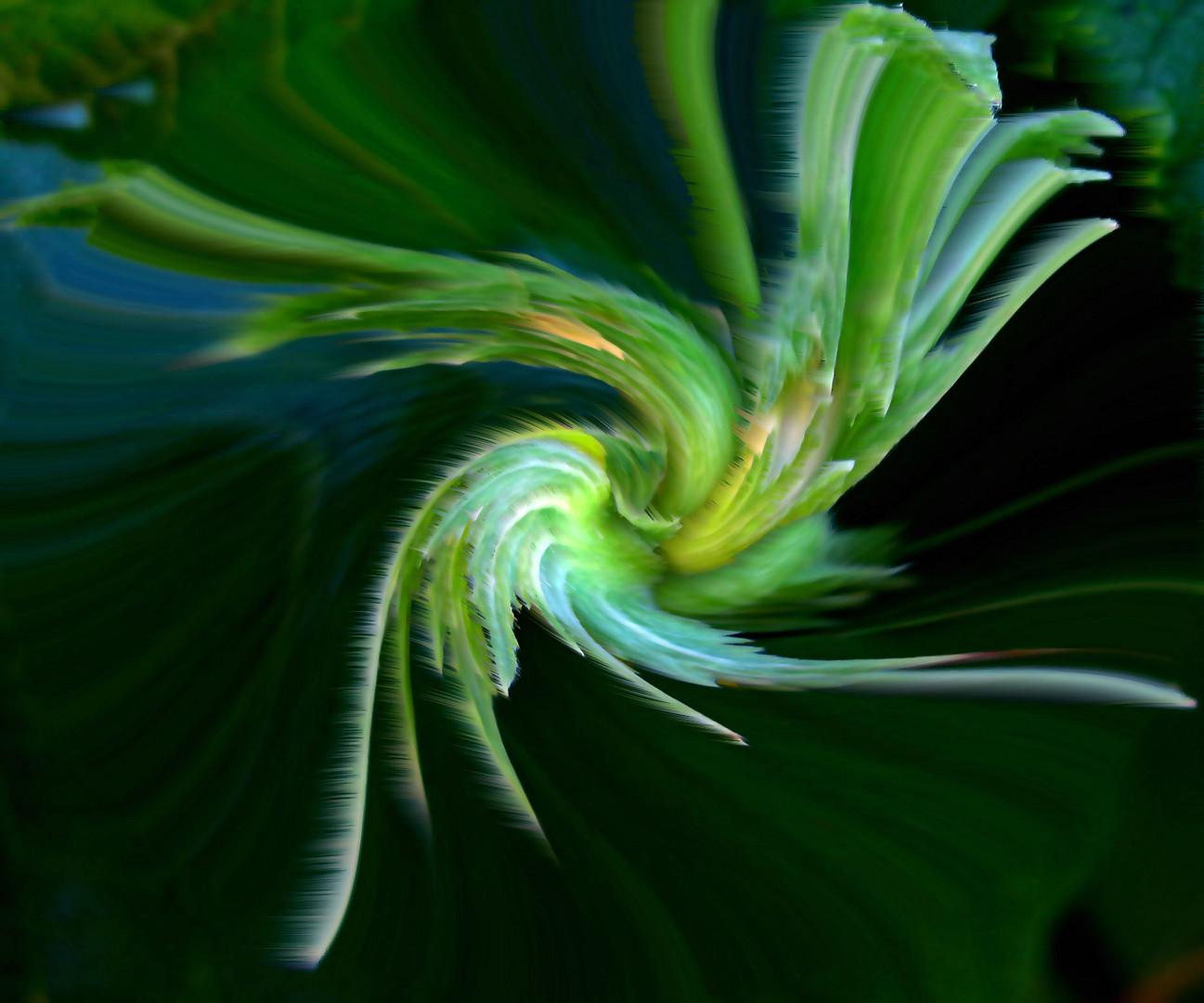 Grüne Ausstrahlung