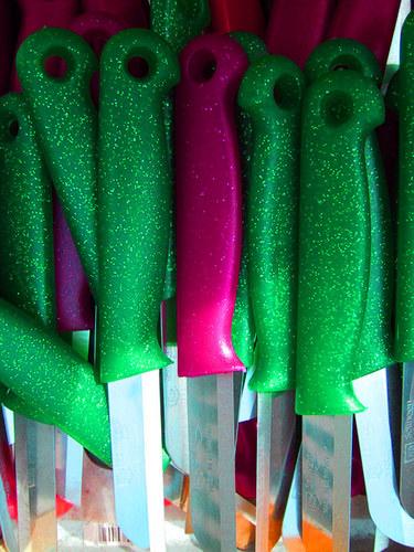 grüne Küchenmesser