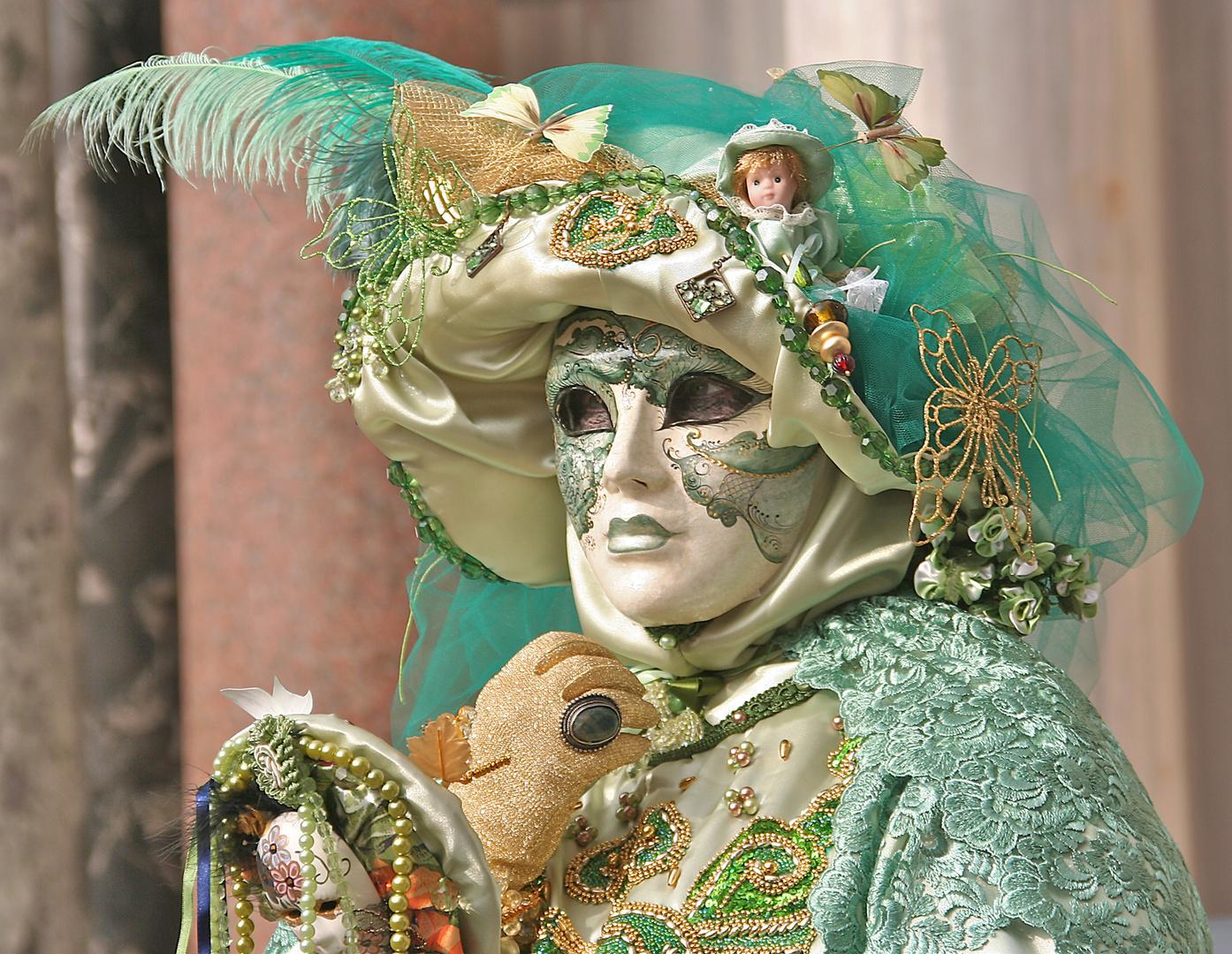 grüne Maske