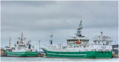 grüne Schiffe
