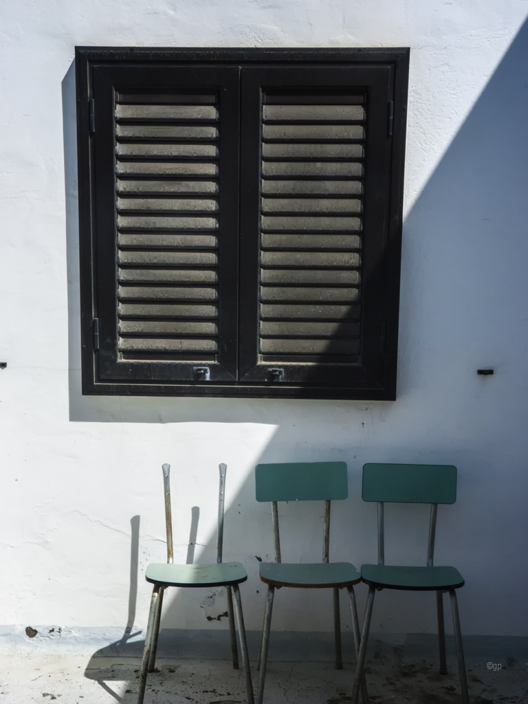Grüne Stühle
