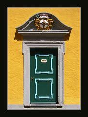 Grüne Tür auf Schloss Montabaur
