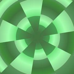 Grüner Arte Stern