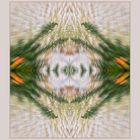 Grüner Geist mit glühenden Ohren
