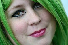 Grünes Haar kann glücklich machen