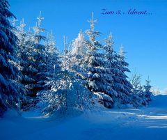 """… grüße ich mit diesem Wintermotiv aus """"alten"""" Zeiten"""