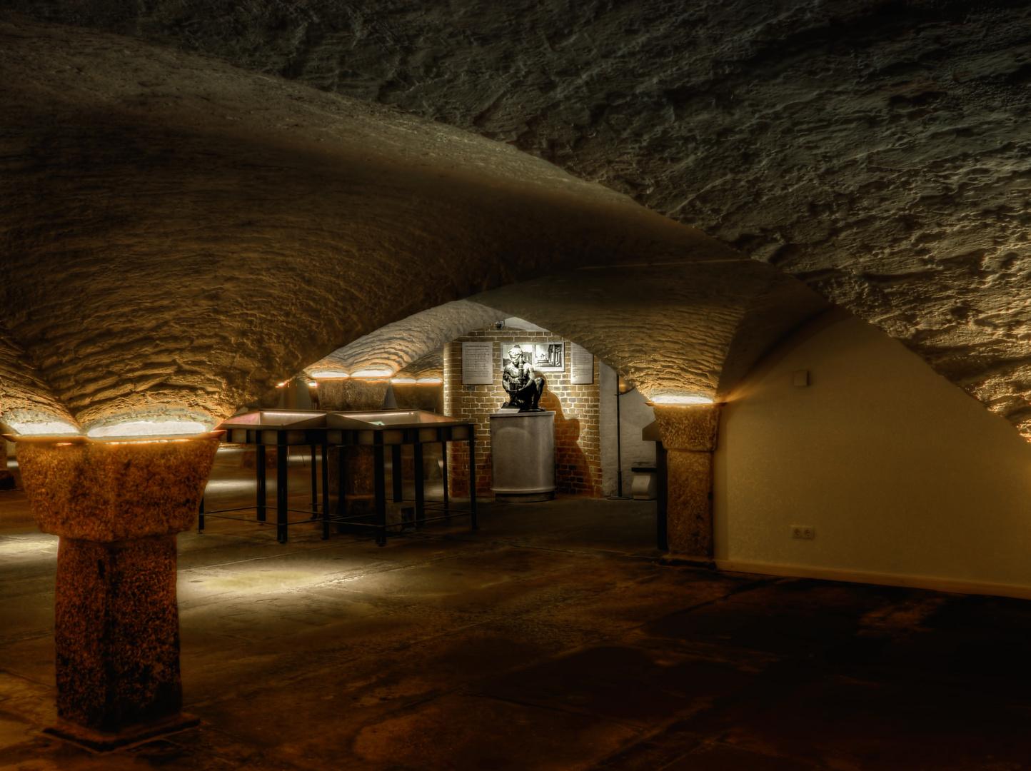 Gruftgewölbe unter dem Hamburger Michel