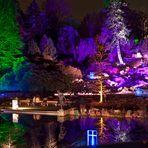 Gruga Essen - Lichtspiele am Alpinum - lila-rot