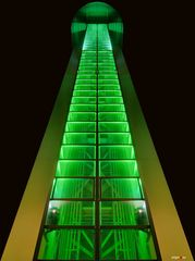 Grugaturm in Grün