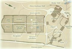 Grundriss der Gärten der Seigneurie