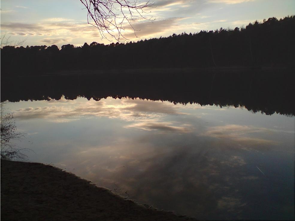 Grunewaldsee am Abend