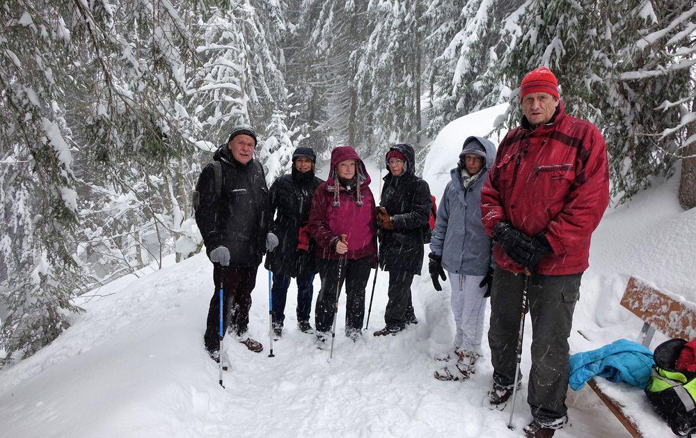 Gruppe Abstieg Bühlalpe