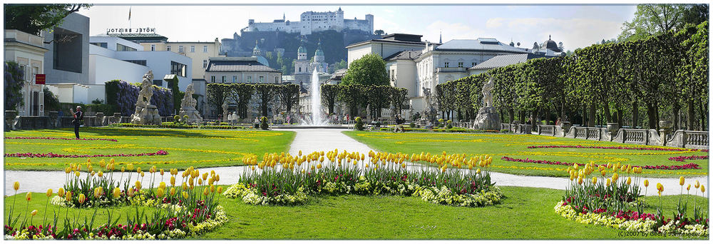 Gruß aus dem Salzburger Mirabellgarten