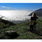 guarda Teddy!...che mare di nuvole