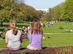 Günter allein im Park