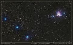 Gürtel des Orion (M42 + M43)