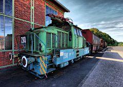 Güterverkehr im Stahlwerk